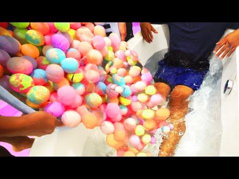 EXTREME 1000+ BATH BOMBS CHALLENGE!