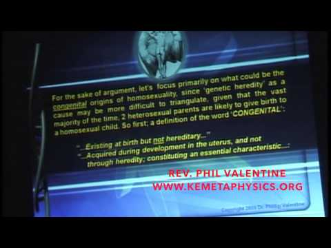 Dr.Phil Valentine – Re Engineering Gender: The Systematic Rise of Homosexuality