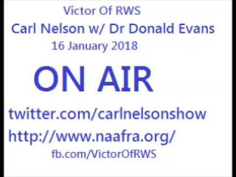 Carl Nelson talking to Dr Donald Evans & Dr Claud Anderson on 16 January 2018