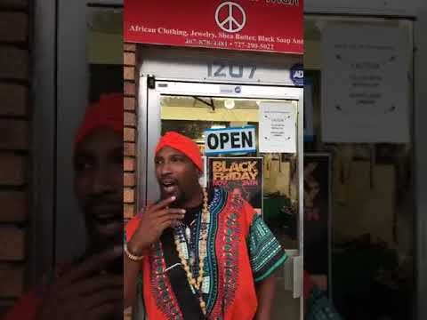 "Dr Umar Johnson  –  Promotes Black Business ""The Dashiki Shoppe"""