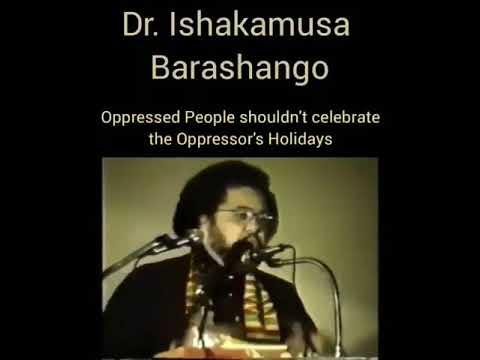 Dr Ishakamusa Barashango Speaks