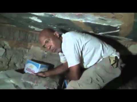 Anthony Browder in Burial Chamber of Karakhamun #3