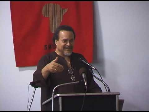 DR Asa G Hilliard III at the Sankofa Shue, Lansing, MI
