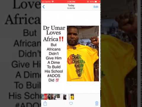 Dr Umar Johnson: Africans Didn't Help Build Your School #ADOS DID‼️