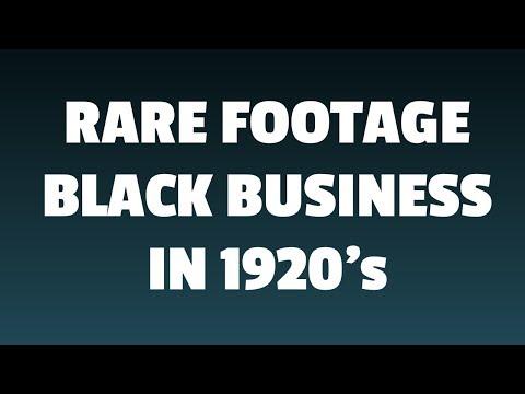 Black Wall Street (Oklahoma) Rare footage 1920 Black Business
