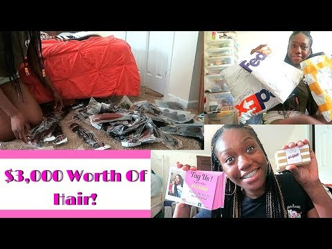 Entreprenuer Life Ep.2  Recieveing Inventory  $3,000 WORTH OF HAIR !Business Cards & Thank You Cards
