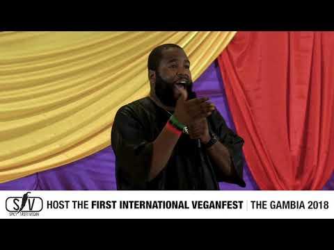 Spicy Tasty Vegan Cuisine DR UMAR JOHNSON First International Veganfest  DAY ONE