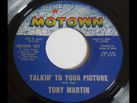 Tony Martin 'Talkin'To Your Picture' 1964 45 rpm