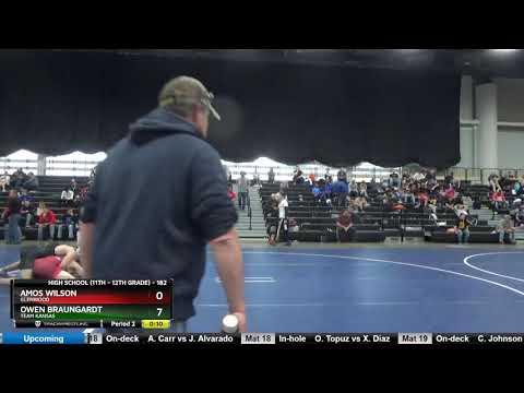 High School (11th – 12th Grade) 182 Amos Wilson Glenwood Vs Owen Braungardt Team Kansas