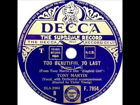 Tony Martin – Too Beautiful To Last