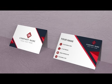 Red Black Business Card Illustrator Tutorial