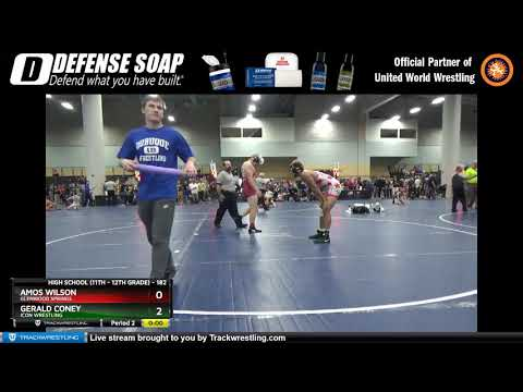 High School (11th – 12th Grade) 182 Amos Wilson Glenwood Springs Vs Gerald Coney Icon Wrestling