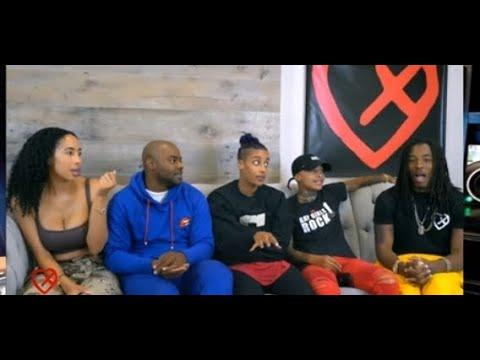 Young Pharoah Talking To The Skittles Crew Causing Drama!