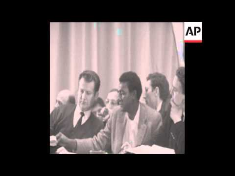SYND 7 12 67 US CIVIL RIGHTS ACTIVIST STOKELY CARMICHAEL SPEAKING IN PARIS AGAINST VIETNAM WAR
