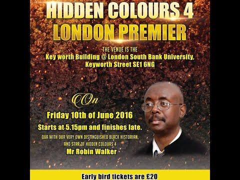 Hidden Colors 4 London premier feat Robin Walker for gotkushTV
